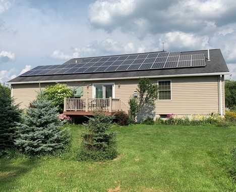 Net Zero home in Locke, NY