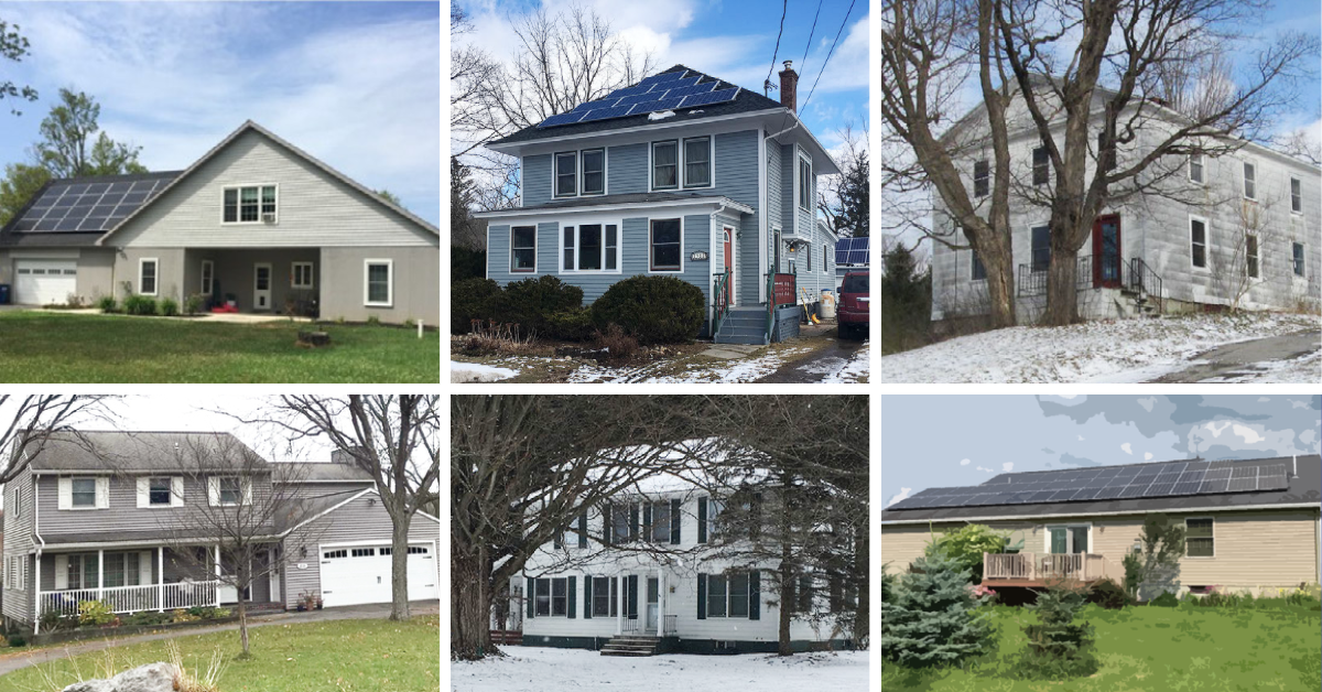 Six homes in CNY that have solar and heat pumps