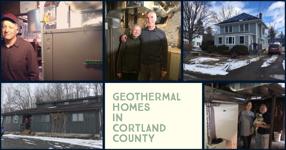 Pictures of people with heat pumps in their homes in Cortland County