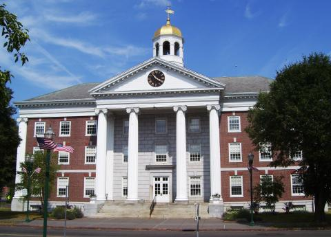 Image of Auburn Memorial City Hall - which is heated and cooled with ground source heat pumps!