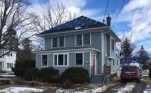 Geothermally heated and cooled home in Preble, NY with solar panels